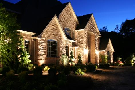 Landscape Lighting: Grazing Brick & Highlighting Eaves